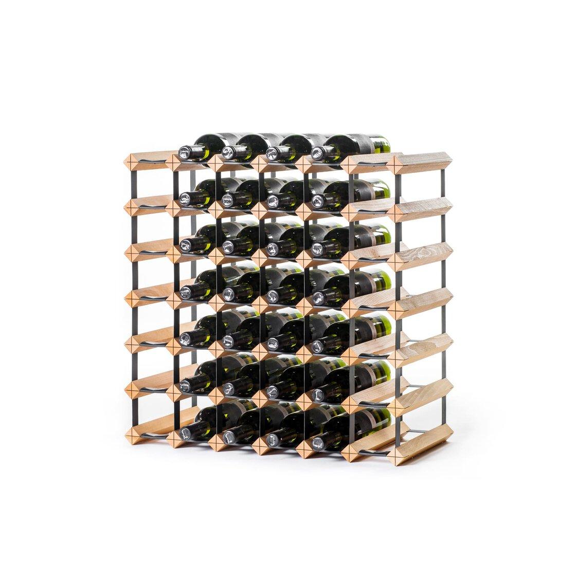 Weinregal Holz RAXI KLASSISCHE WEINREGALE - W 15 Flaschen Buche - Farbe:  Kirschbaum 15 x 15 cm